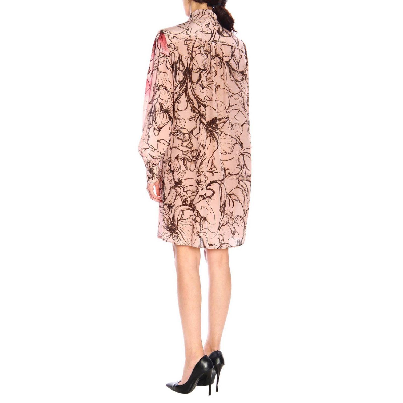 Vestido Alberta Ferretti: Vestido Alberta Ferretti con estampado floral de crepe de chine rosa pálido 2