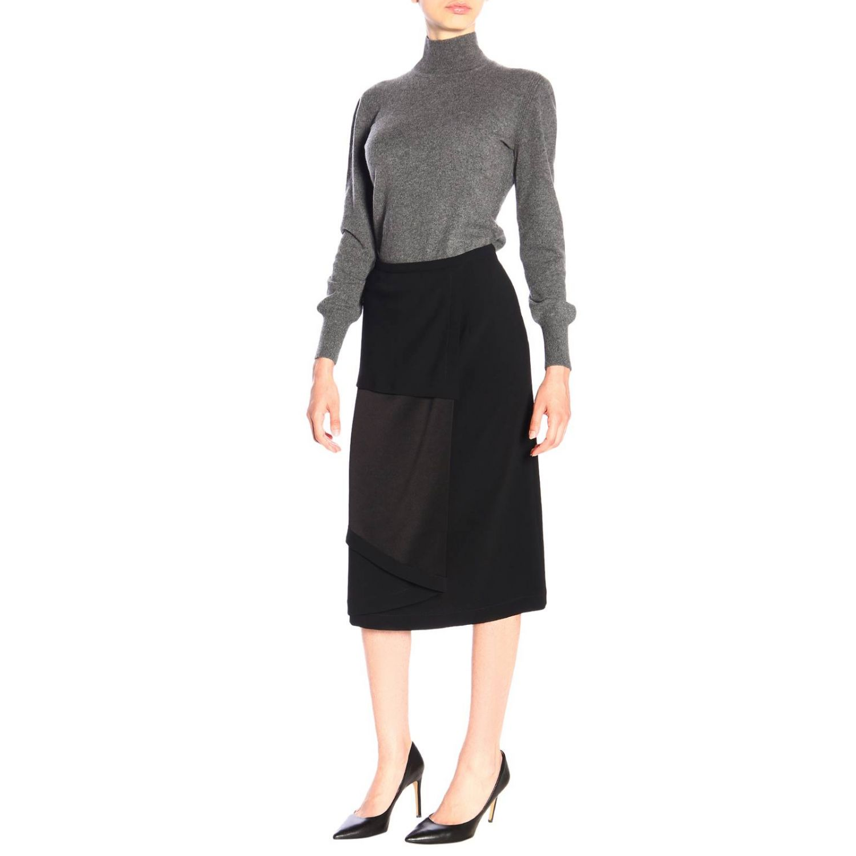 Skirt Alberta Ferretti: Alberta Ferretti pencil skirt with contrasting panel black 2