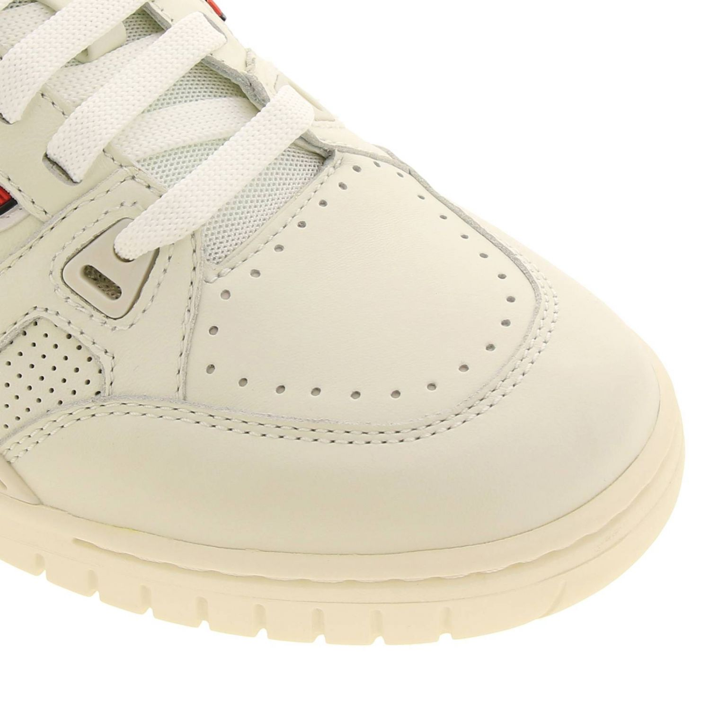 Sneakers Kuba Bally en cuir avec micro trous et maxi logo en caoutchouc blanc 3