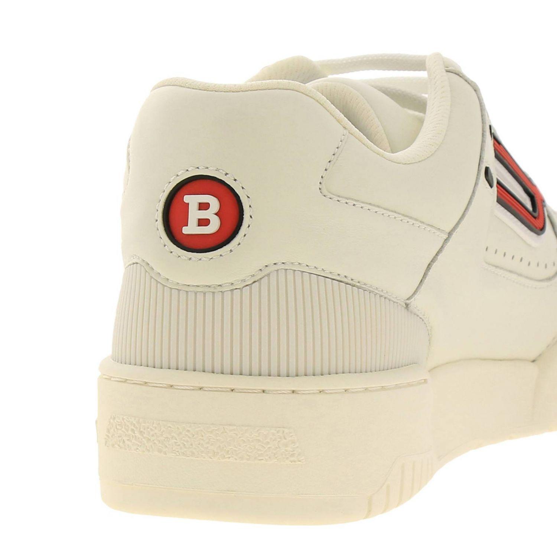 Sneakers Kuba Bally en cuir avec micro trous et maxi logo en caoutchouc blanc 4