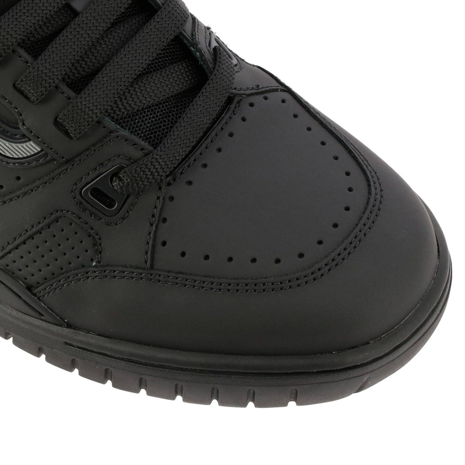 Kuba Bally sneakers in leather with micro holes and maxi rubber logo black 4