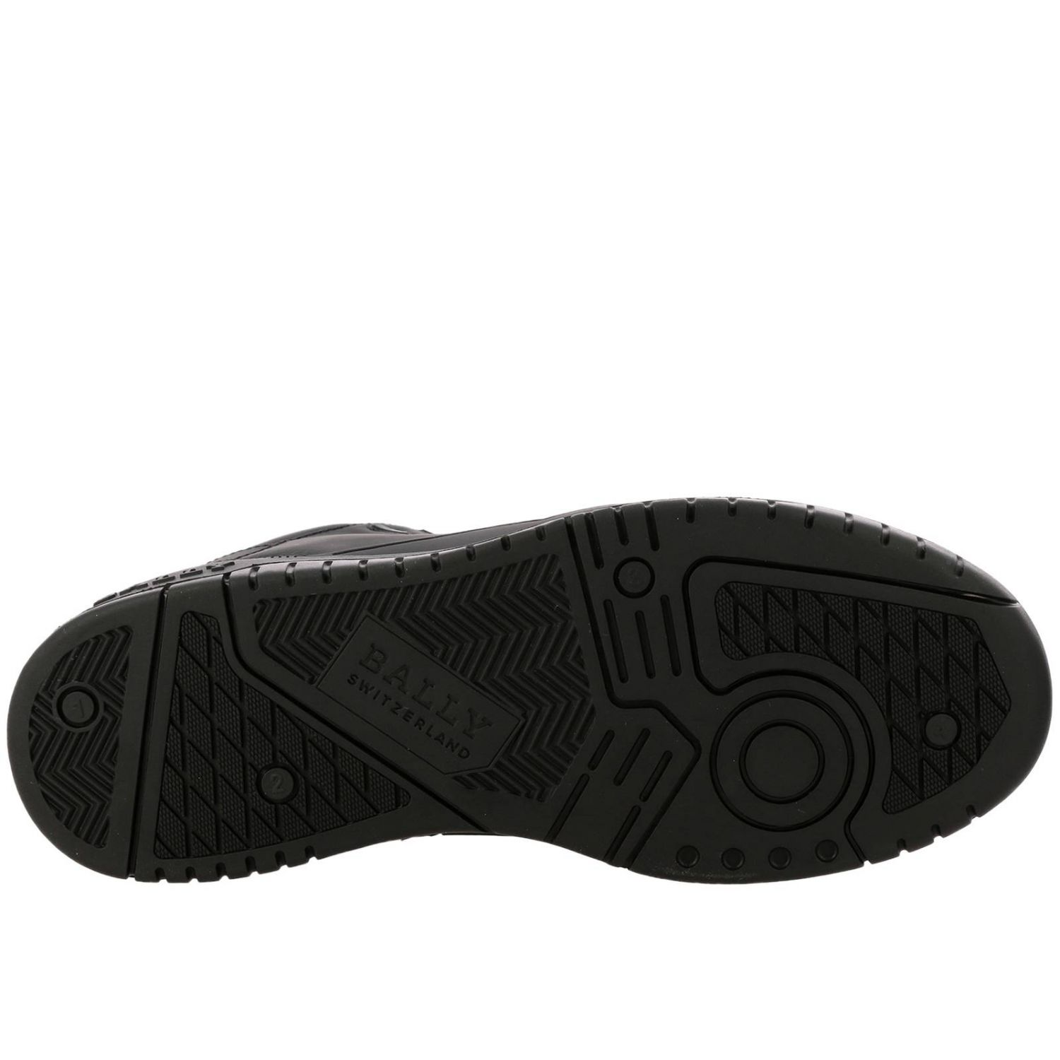 Kuba Bally sneakers in leather with micro holes and maxi rubber logo black 6