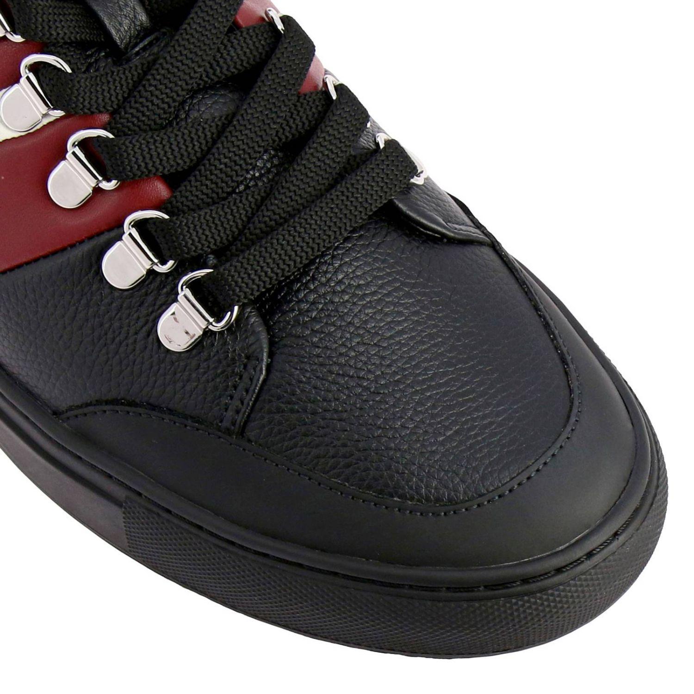 Спортивная обувь Bally: Кроссовки Hensy Bally из кожи и резины с полосатой вставкой черный 3