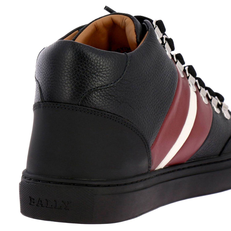 Спортивная обувь Bally: Кроссовки Hensy Bally из кожи и резины с полосатой вставкой черный 4