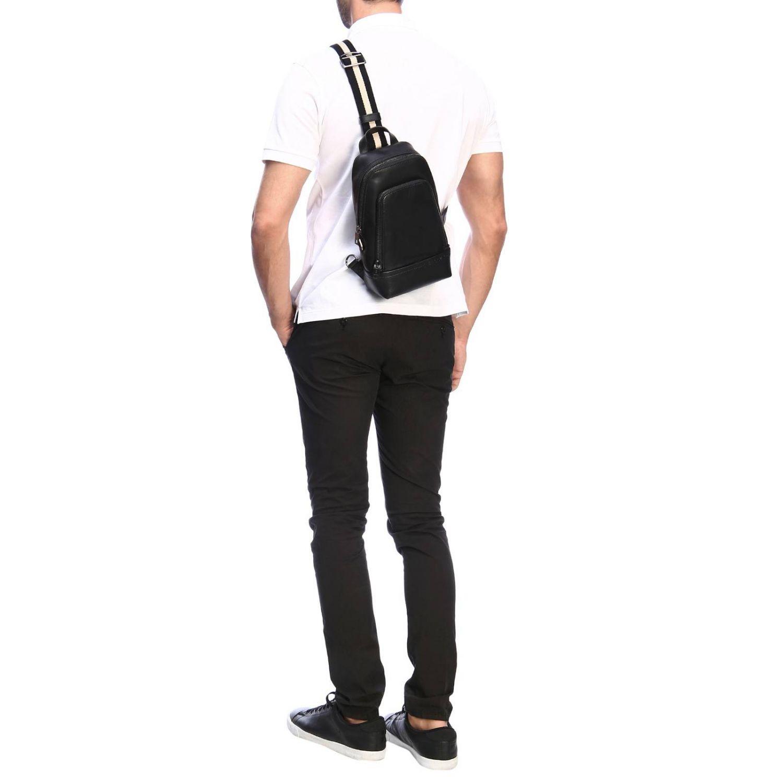 Thorp Bally Rucksack aus Leder mit durchgehendem Reißverschluss schwarz 2
