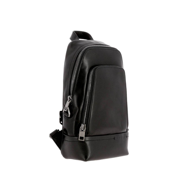 Thorp Bally Rucksack aus Leder mit durchgehendem Reißverschluss schwarz 3