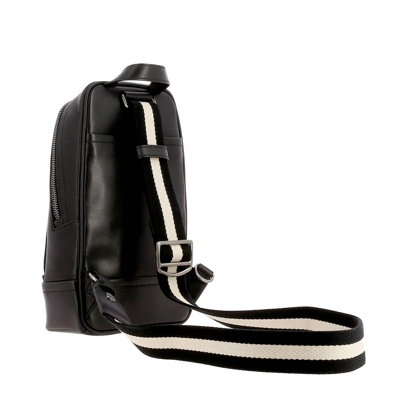 Thorp Bally Rucksack aus Leder mit durchgehendem Reißverschluss schwarz 4
