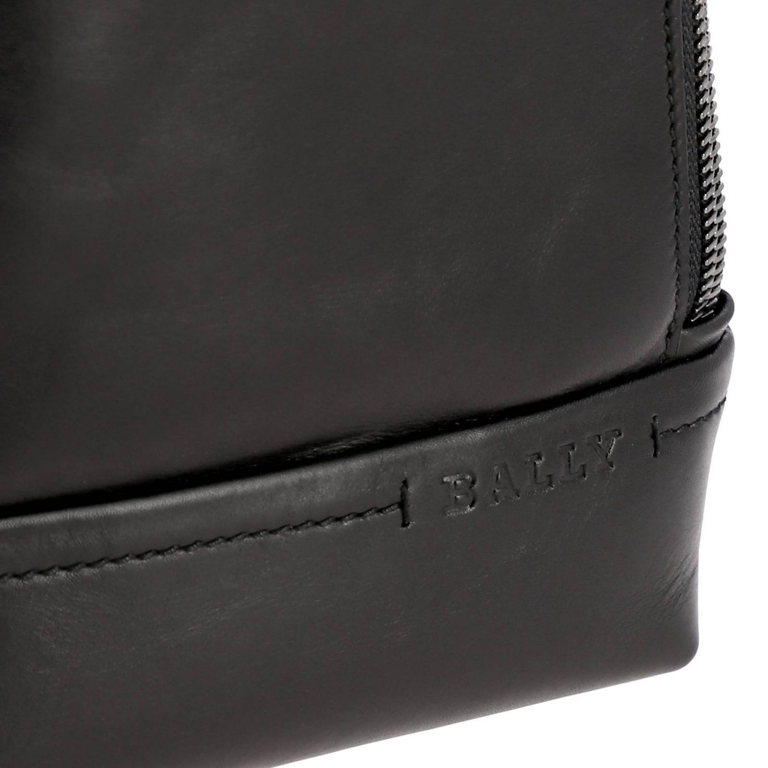 Thorp Bally one shoulder leather backpack with full zip black 5