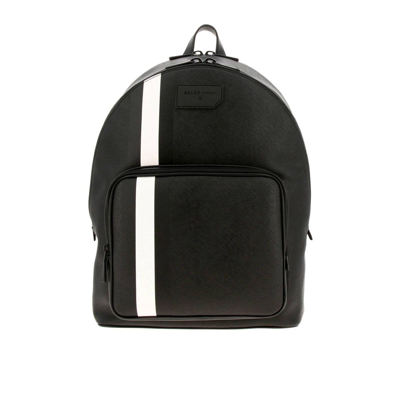 Sarkis Bally grand sac à dos avec bande trainspotting noir 1