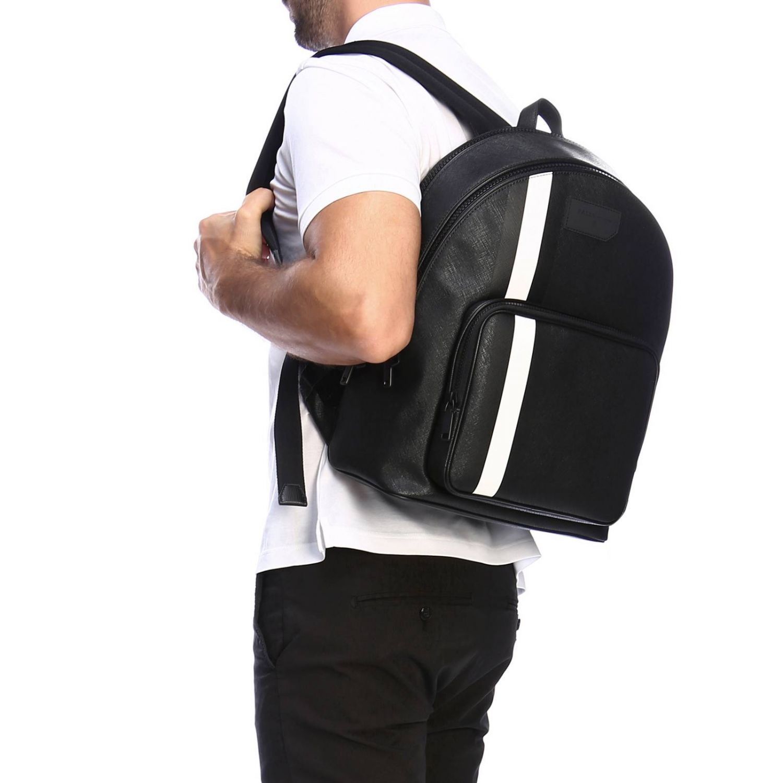 Sarkis Bally grand sac à dos avec bande trainspotting noir 2