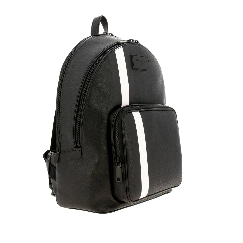 Sarkis Bally grand sac à dos avec bande trainspotting noir 3