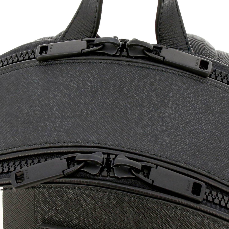 Sarkis Bally grand sac à dos avec bande trainspotting noir 5