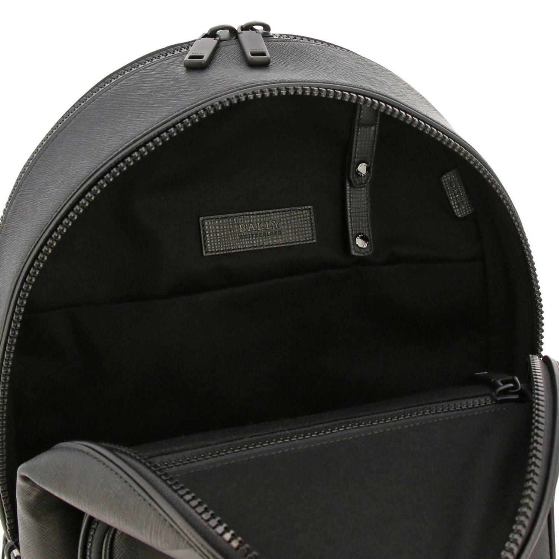 Sarkis Bally grand sac à dos avec bande trainspotting noir 6
