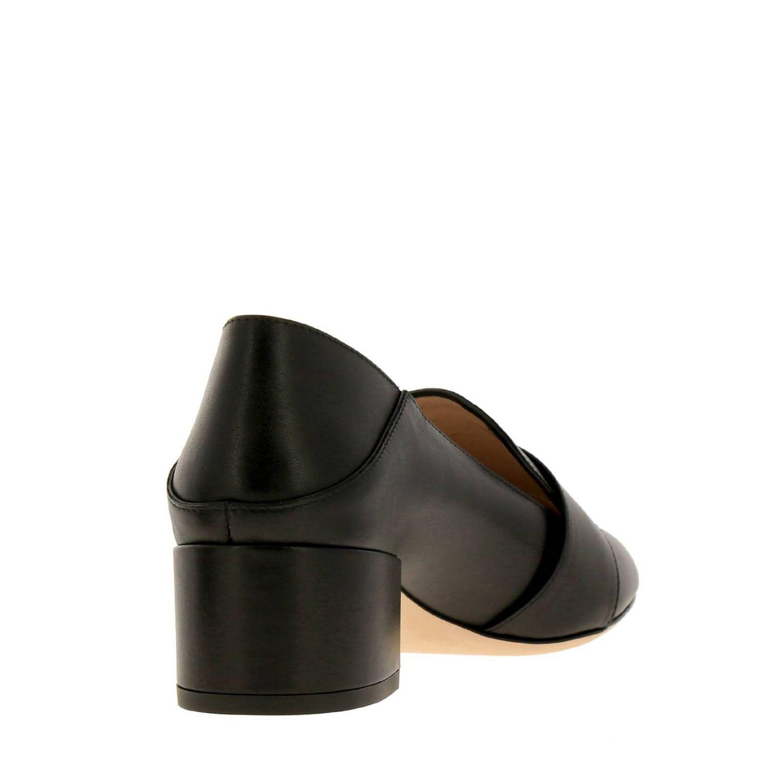 Туфли на каблуке Bally: Мокасины Janelle из гладкой кожи с металлической макси-пряжкой и сгибающейся пяткой черный 4