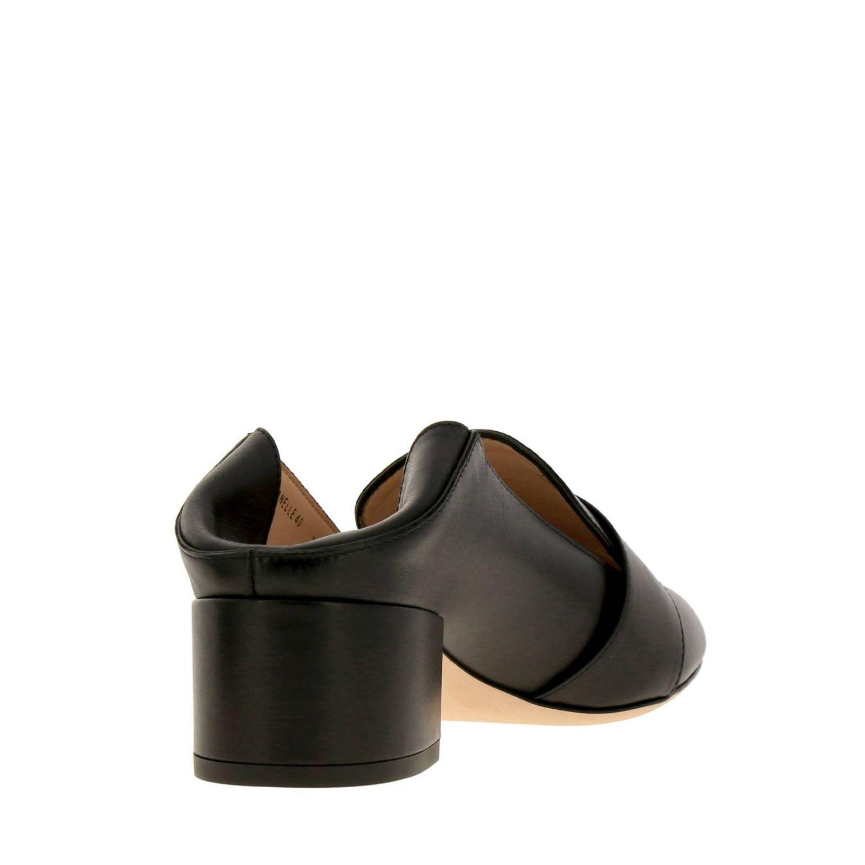 Туфли на каблуке Bally: Мокасины Janelle из гладкой кожи с металлической макси-пряжкой и сгибающейся пяткой черный 5