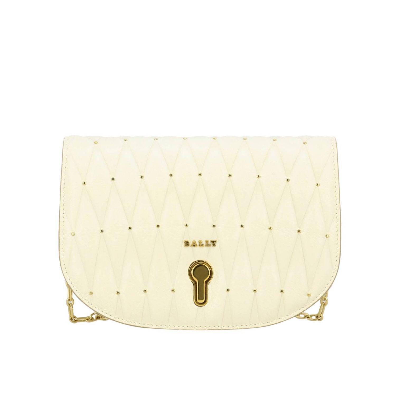Shoulder bag women Bally yellow cream 1