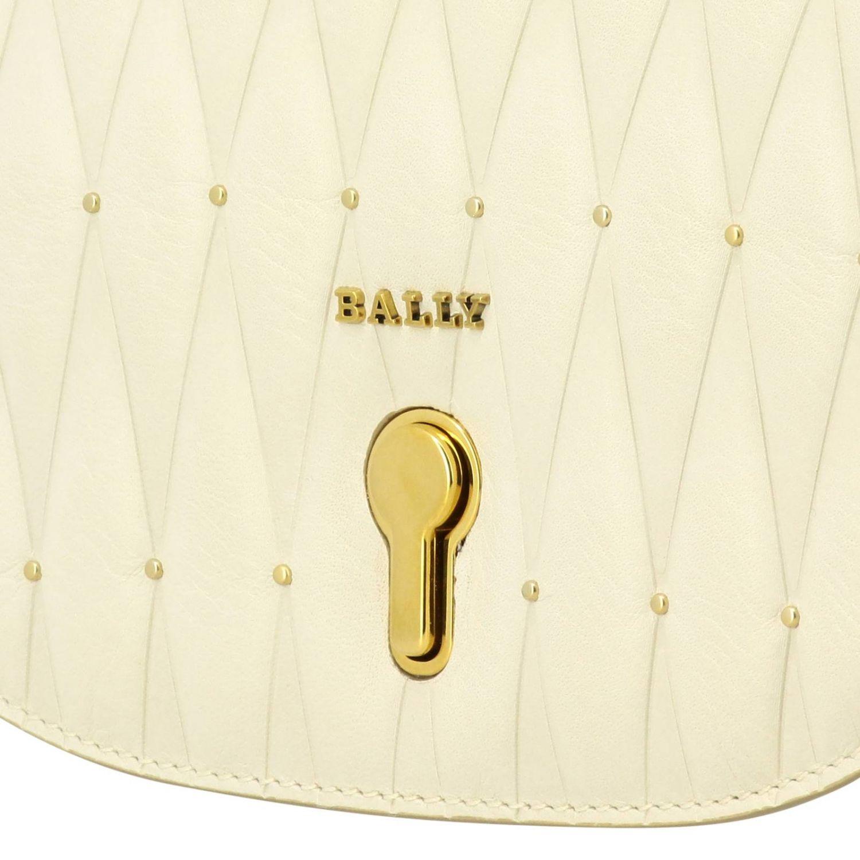 Shoulder bag women Bally yellow cream 4