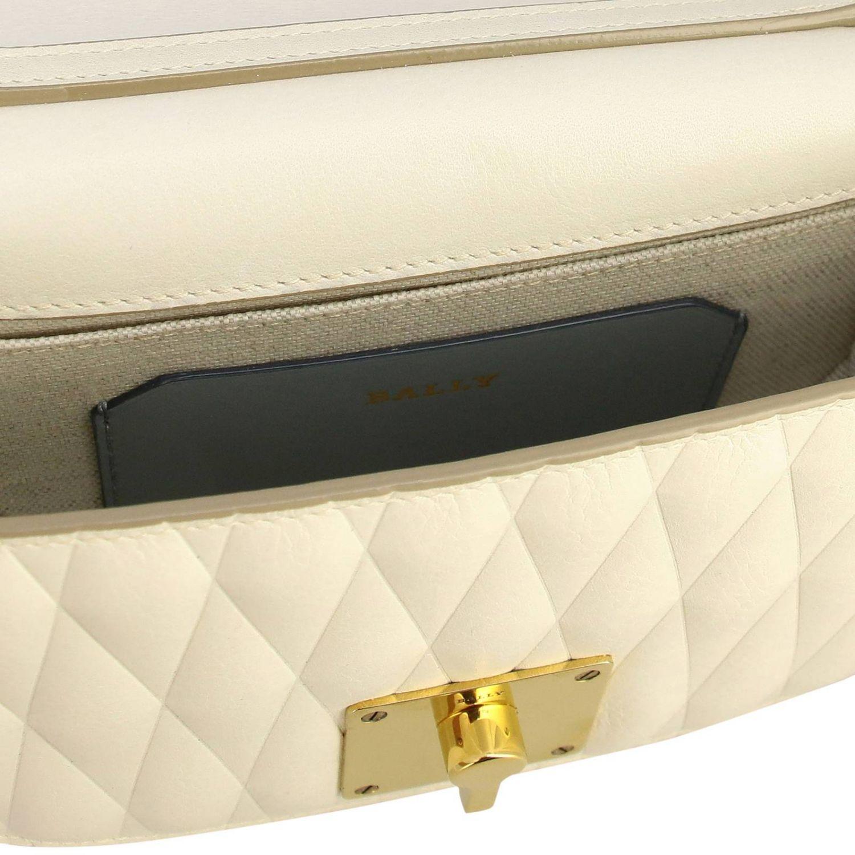 Shoulder bag women Bally yellow cream 5