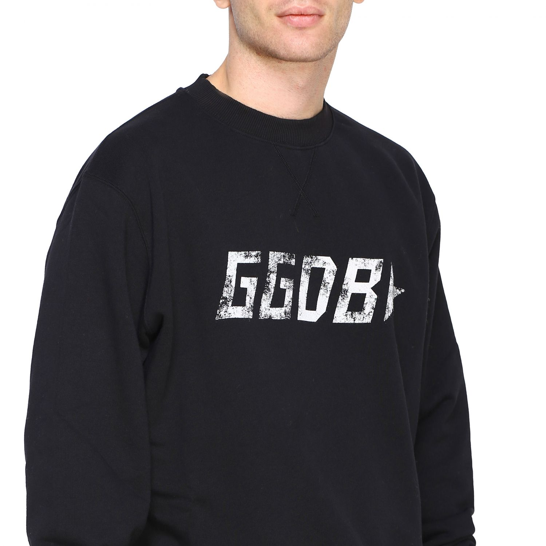 Felpa Golden Goose a girocollo con stampa GGDB nero 5