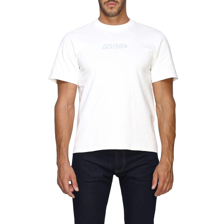 T-shirt Golden Goose a maniche corte con logo bianco 1