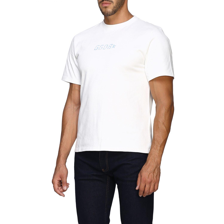 T-shirt Golden Goose a maniche corte con logo bianco 4