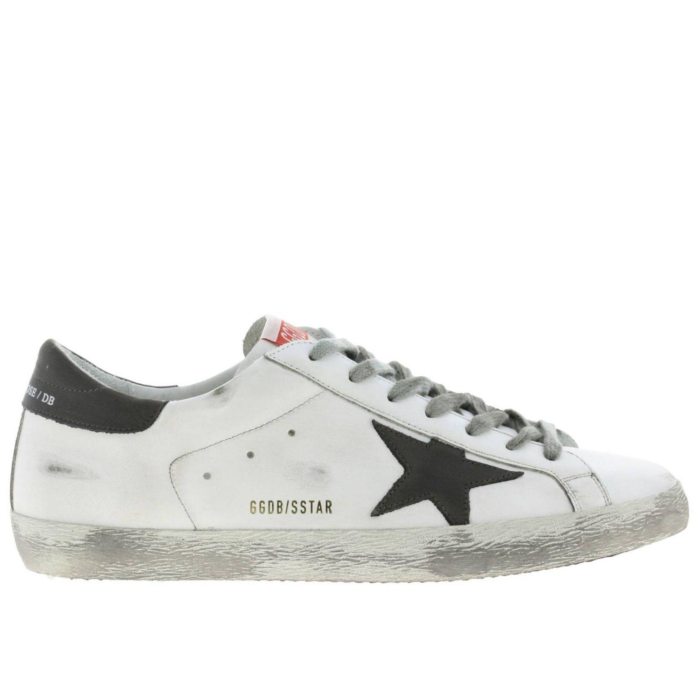 Sneakers Superstar Golden Goose in pelle used bianco 1