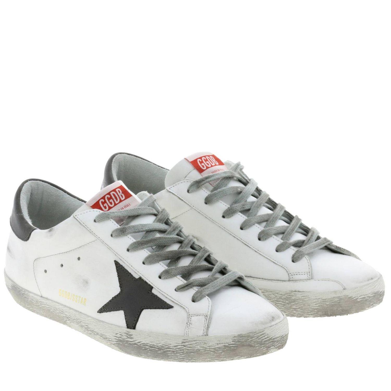 Sneakers Superstar Golden Goose in pelle used bianco 2