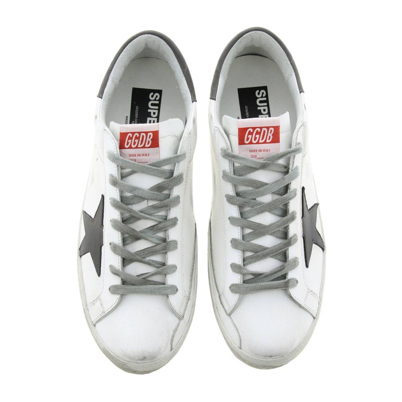 Sneakers Superstar Golden Goose in pelle used bianco 3