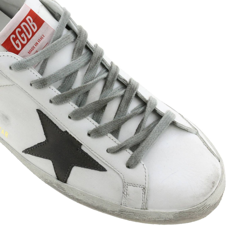 Sneakers Superstar Golden Goose in pelle used bianco 4