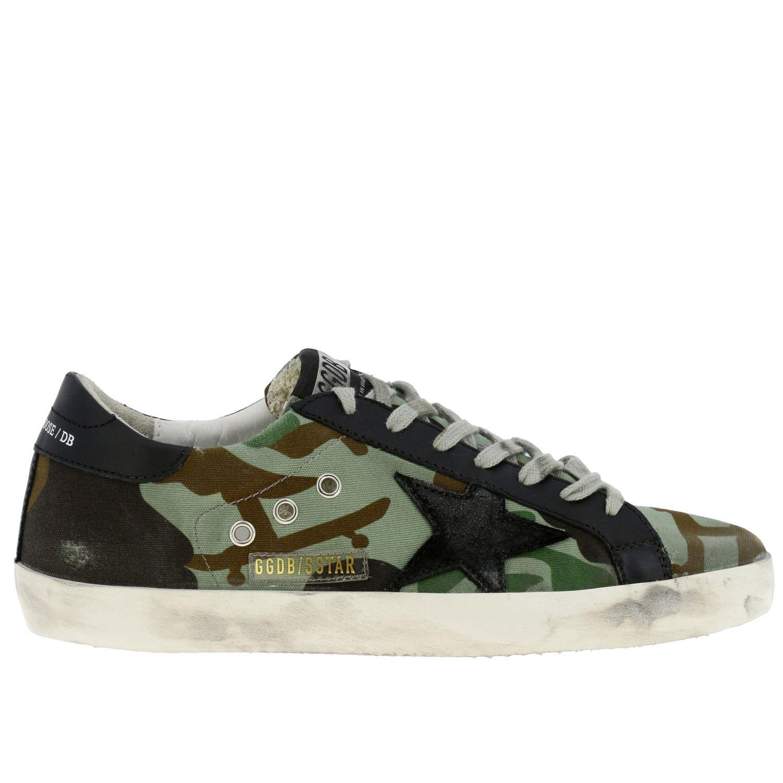 Sneakers Superstar Golden Goose in canvas militare e pelle militare 1