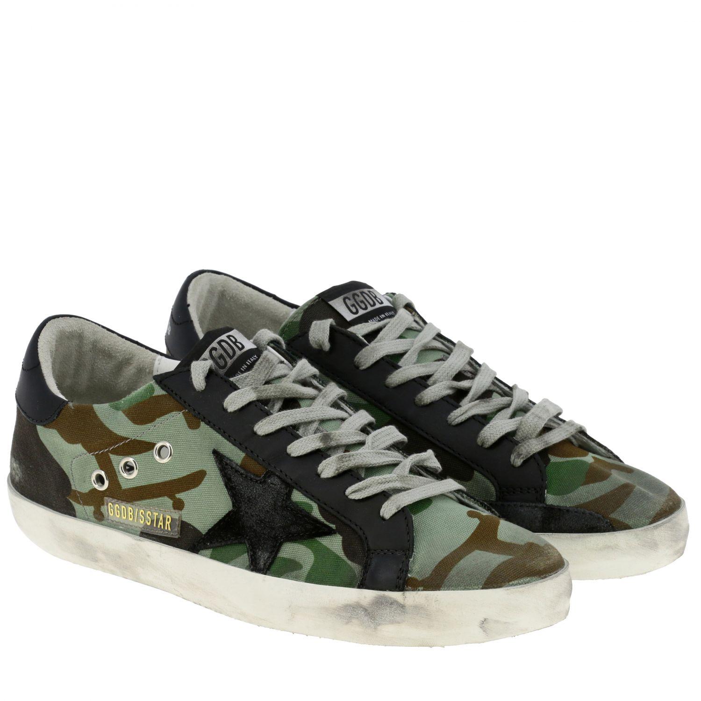 Sneakers Superstar Golden Goose in canvas militare e pelle militare 2