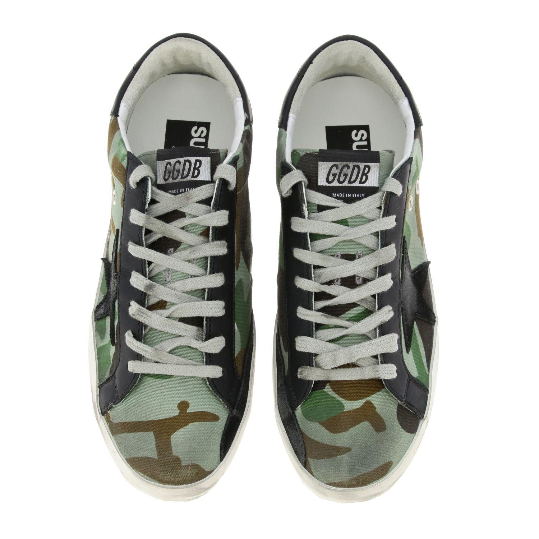 Sneakers Superstar Golden Goose in canvas militare e pelle militare 3