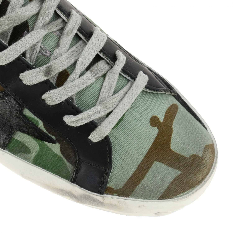 Sneakers Superstar Golden Goose in canvas militare e pelle militare 4