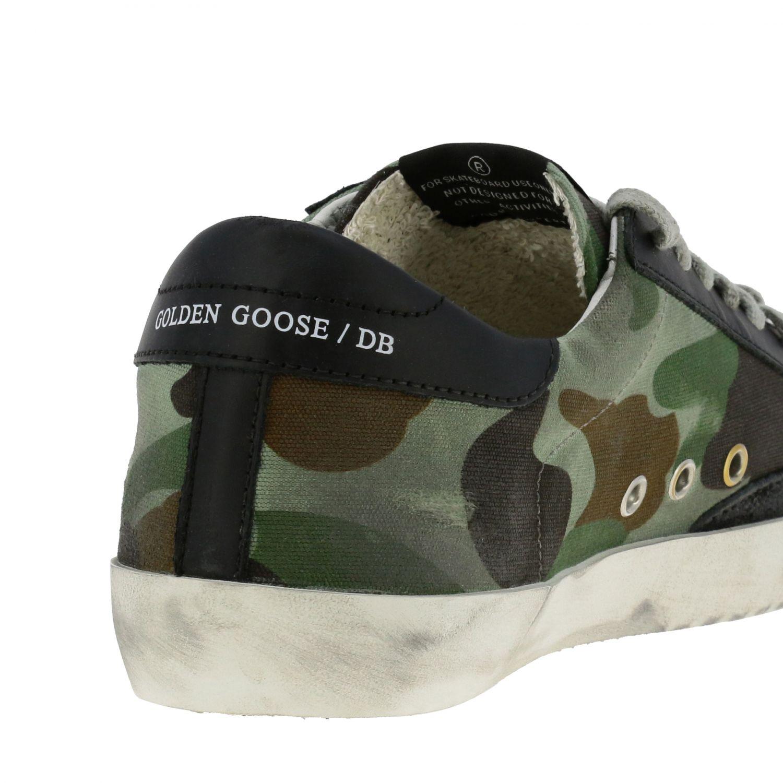 Sneakers Superstar Golden Goose in canvas militare e pelle militare 5