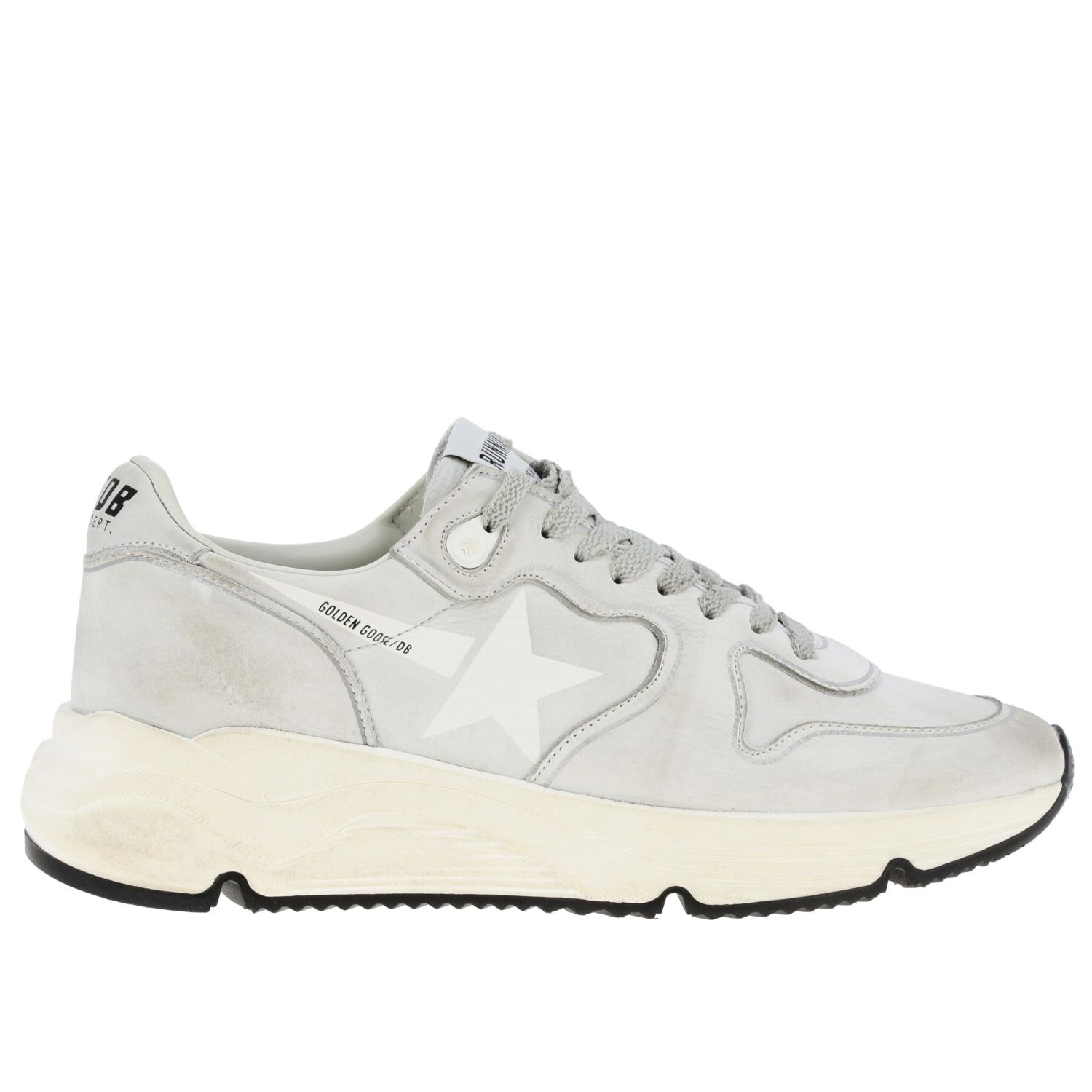 Sneakers Running sole Golden Goose in pelle used bianco 1