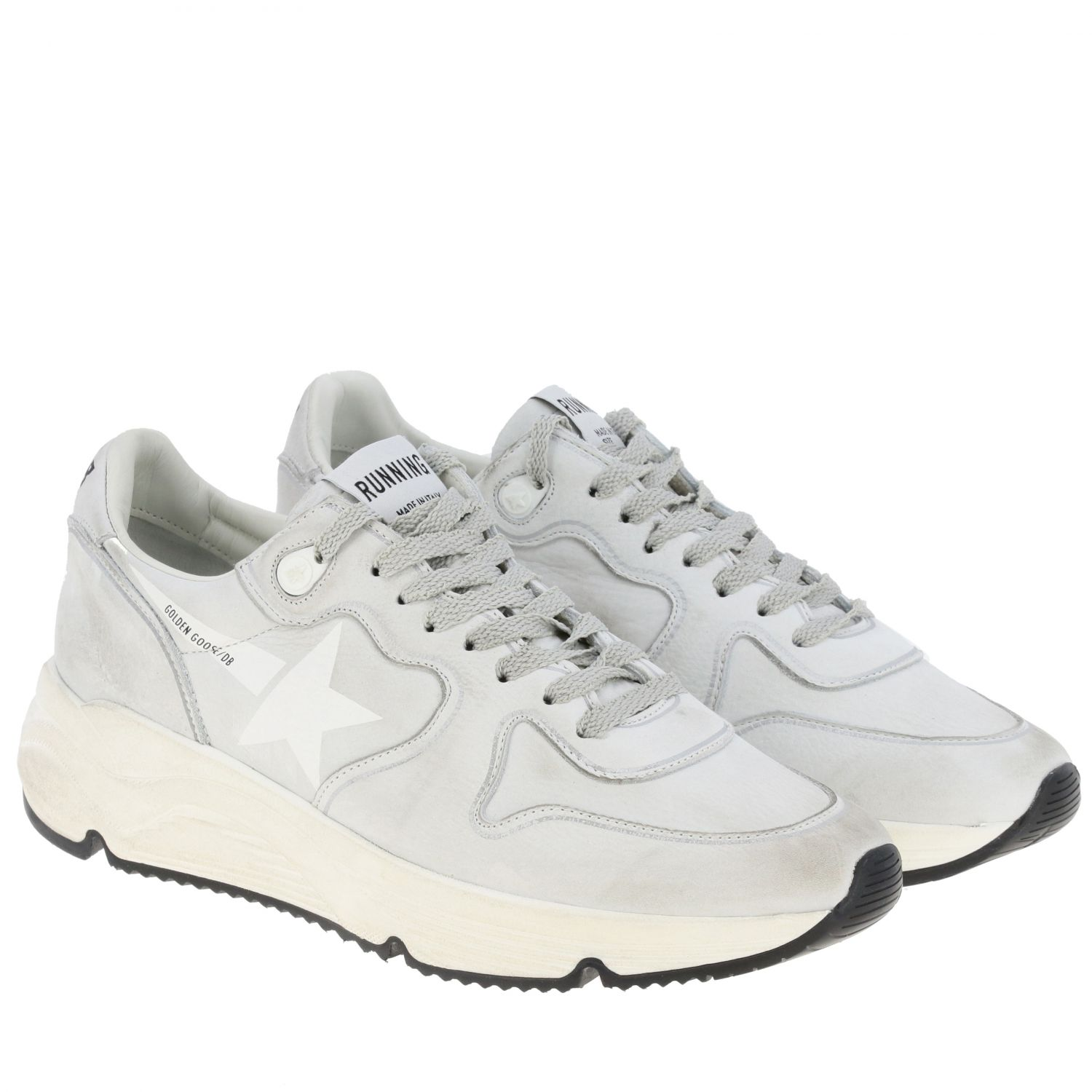 Sneakers Running sole Golden Goose in pelle used bianco 2