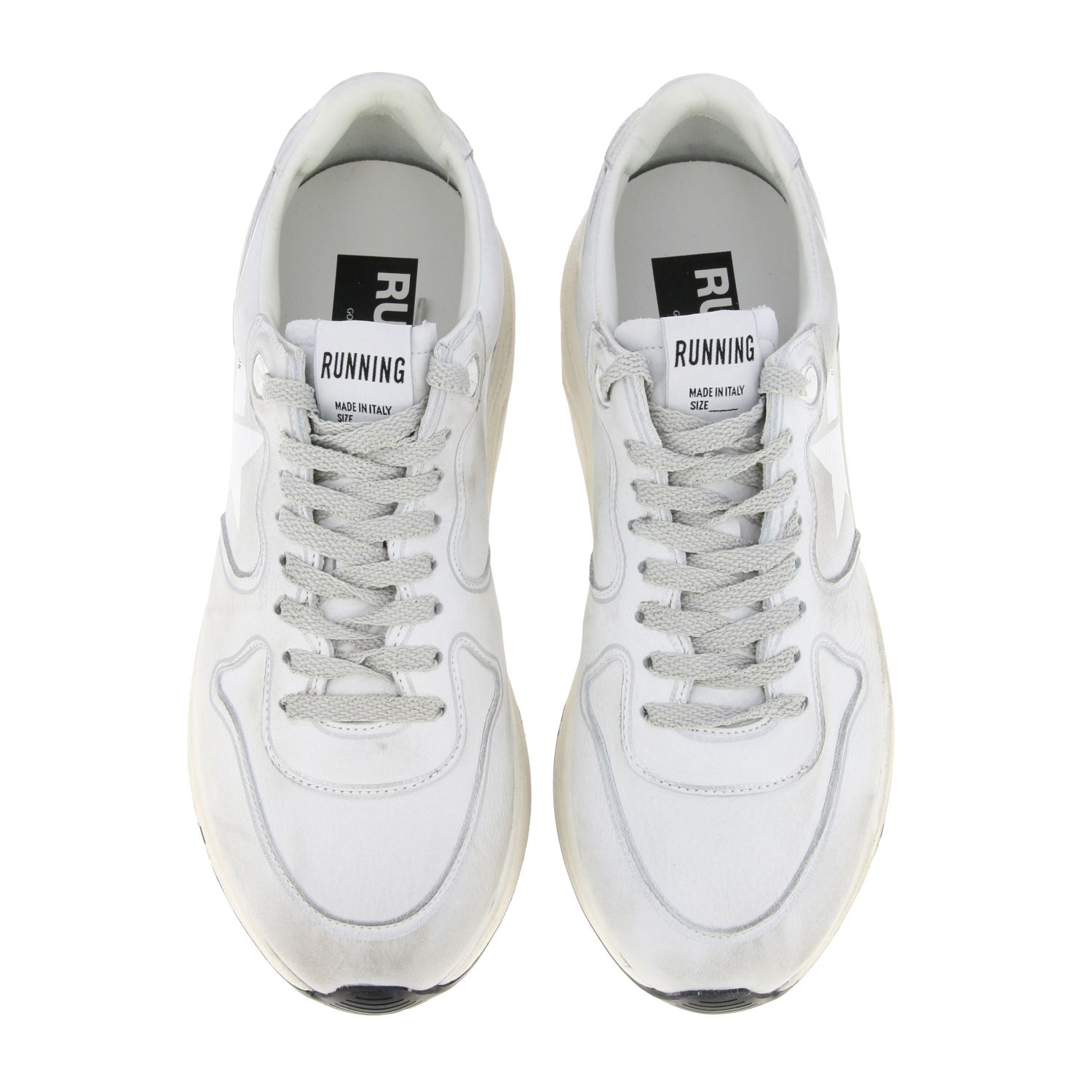 Sneakers Running sole Golden Goose in pelle used bianco 3