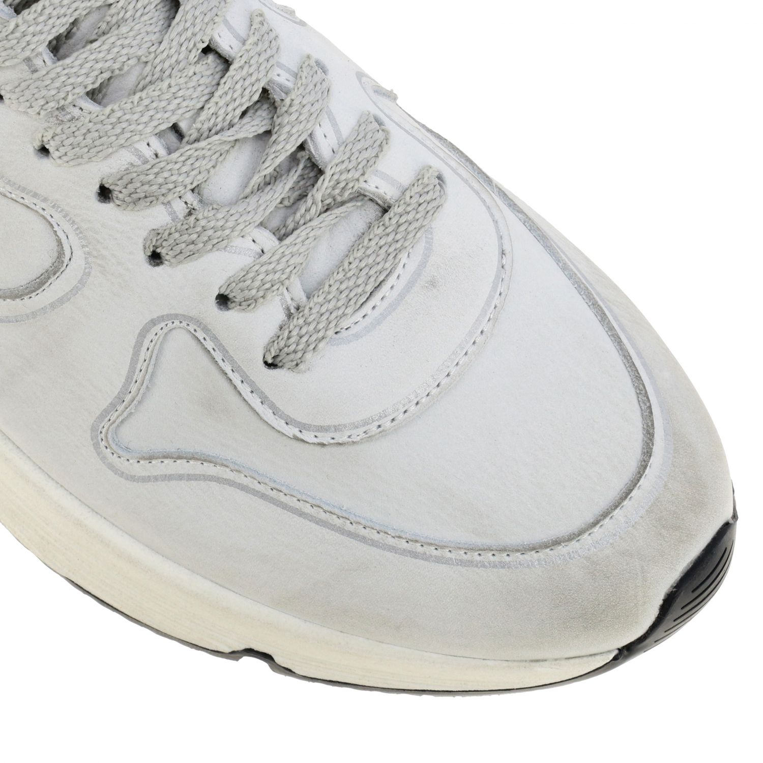 Sneakers Running sole Golden Goose in pelle used bianco 4