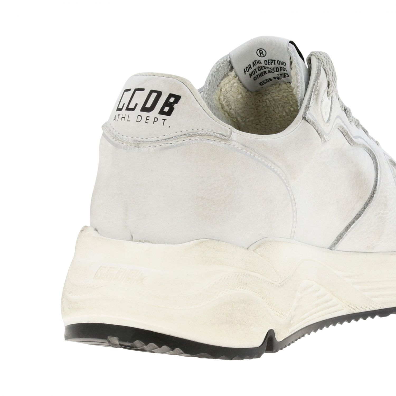 Sneakers Running sole Golden Goose in pelle used bianco 5