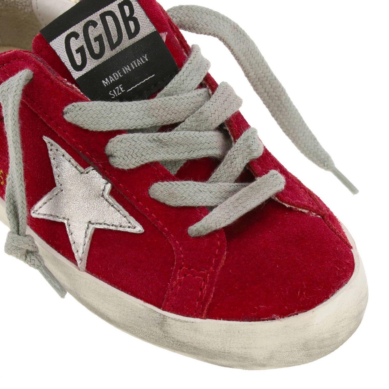 Superstar Golden Goose Sneakers aus Wildleder mit laminiertem Stern rot 3
