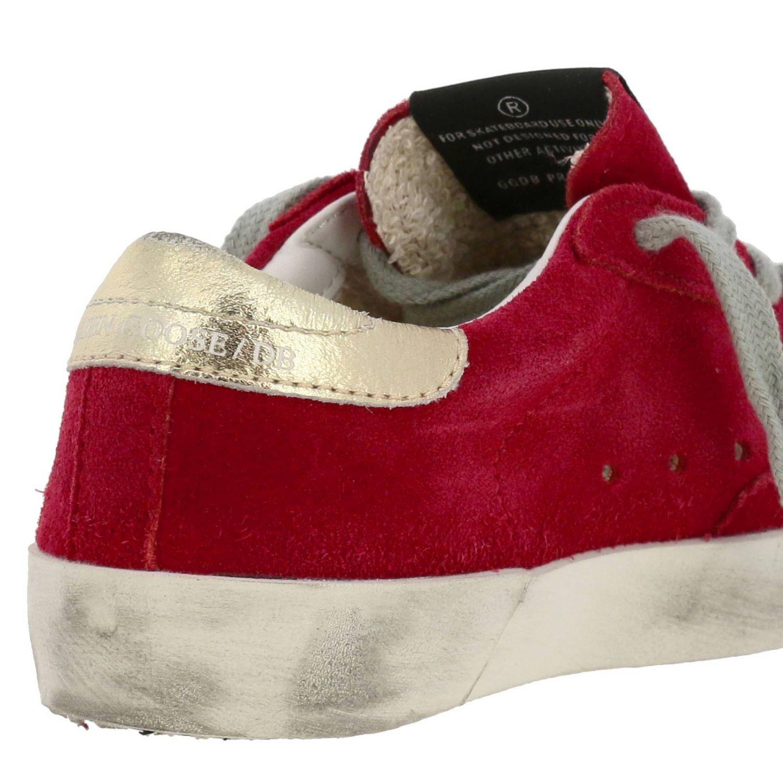 Superstar Golden Goose Sneakers aus Wildleder mit laminiertem Stern rot 4