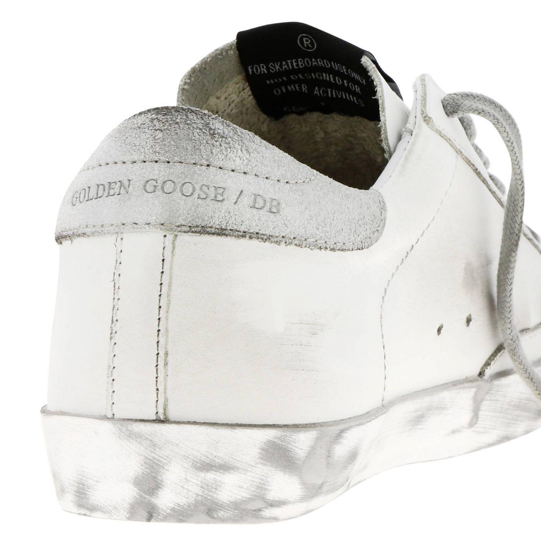 Кроссовки Superstar Golden Goose из кожи с аппликацией из ламинированной кожи белый 4
