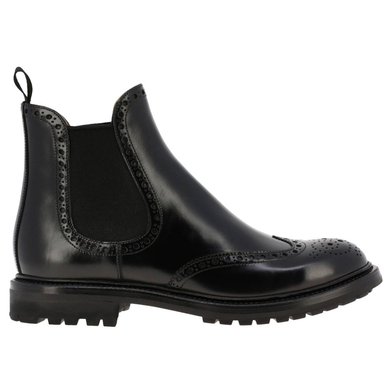 Flat ankle boots Church's: Shoes women Church's black 1