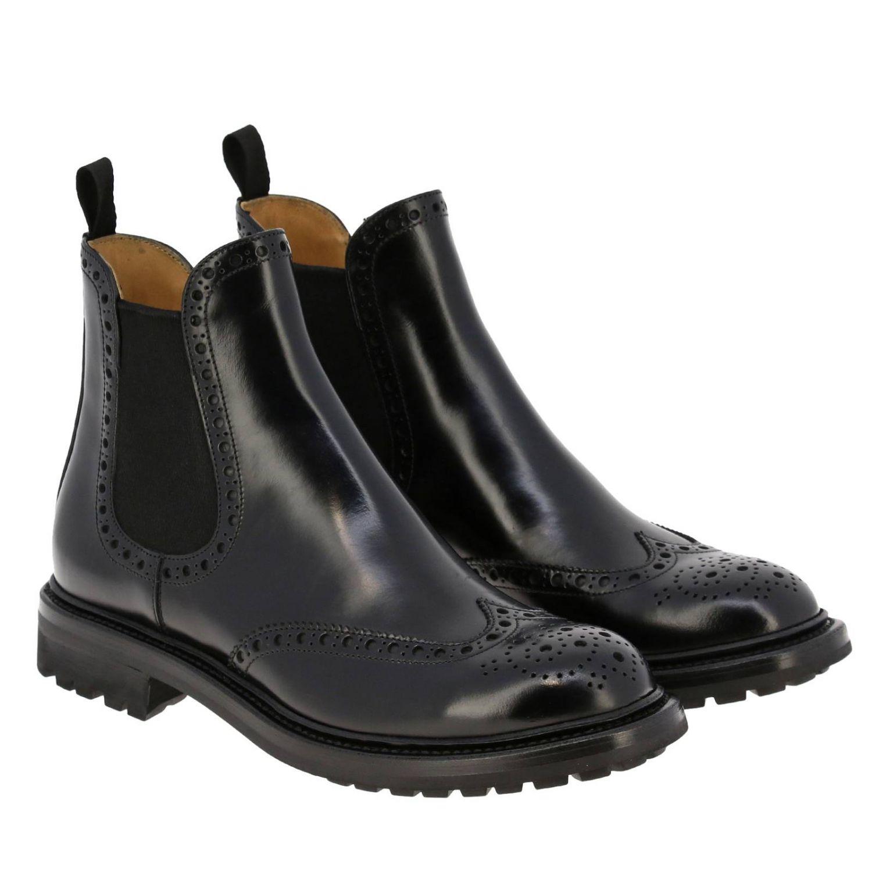 Flat ankle boots Church's: Shoes women Church's black 2