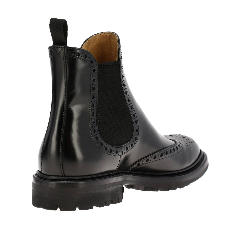 Flat ankle boots Church's: Shoes women Church's black 4