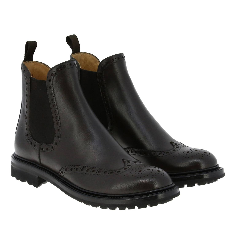 Flat ankle boots Church's: Shoes women Church's dark 2