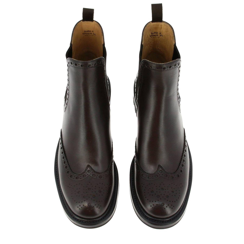Flat ankle boots Church's: Shoes women Church's dark 3