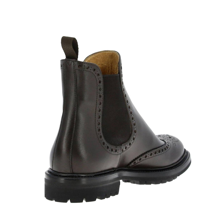 Flat ankle boots Church's: Shoes women Church's dark 5