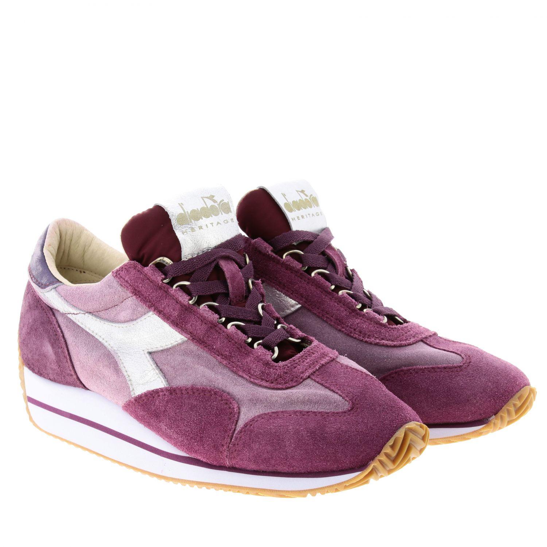 Shoes women Diadora Heritage fuchsia 2