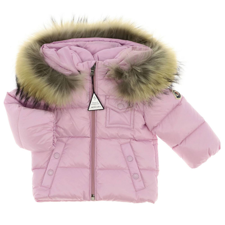 Jacket kids Moncler baby pink 1